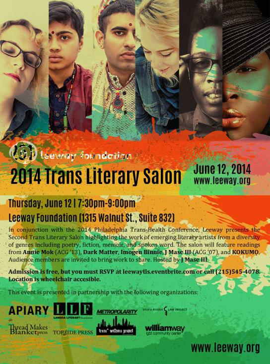2014 Trans Literary Salon in Philadelphia
